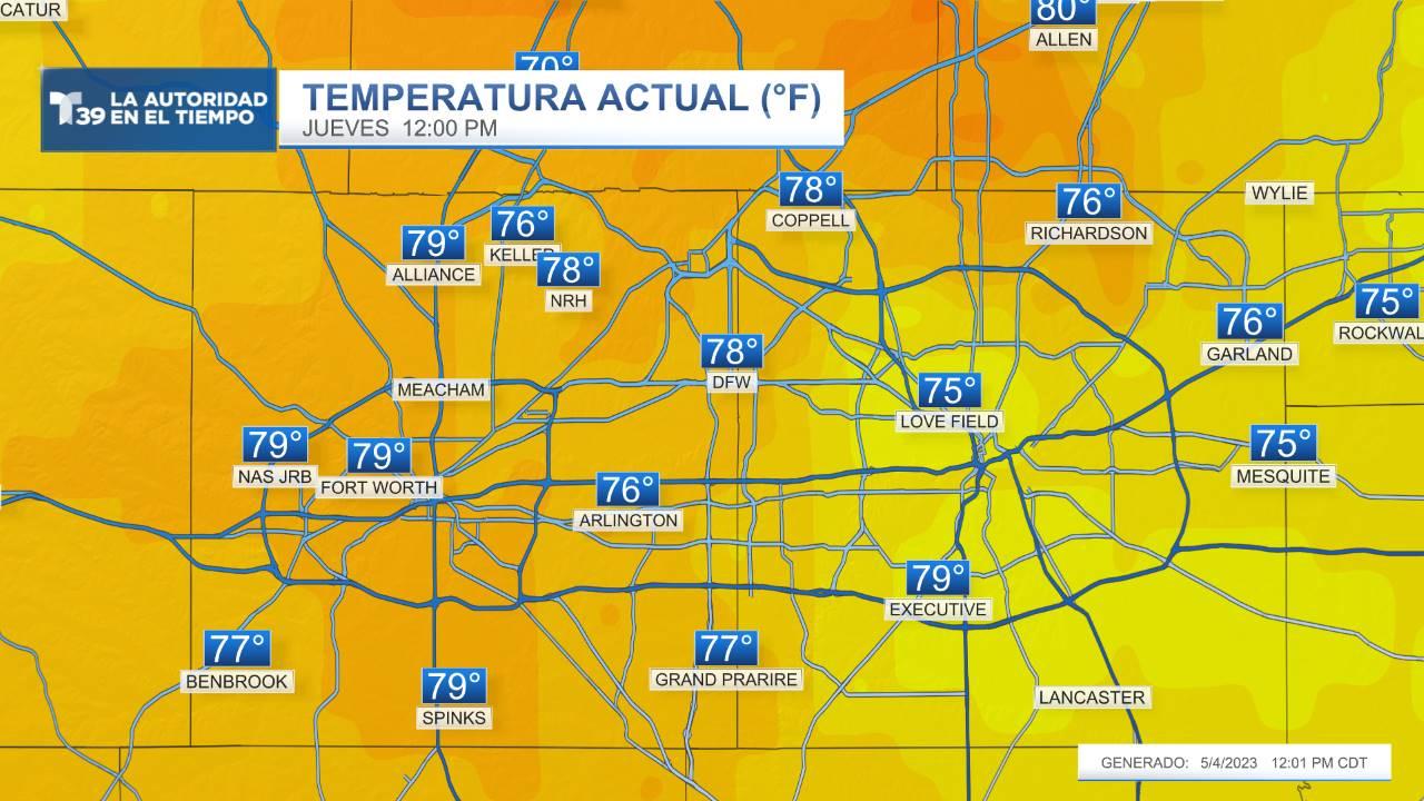 Temperaturas Actuales - Metroplex